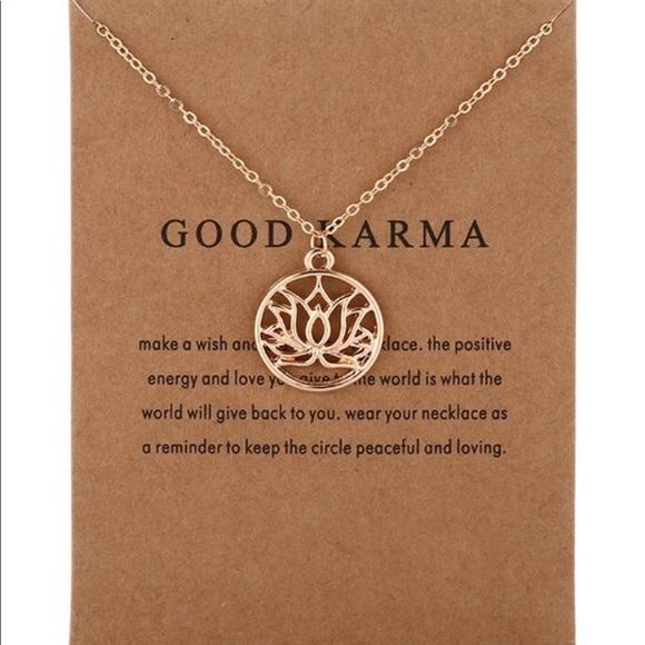 3d30bad9698440 Good Karma Lotus Necklace Gold Dipped w/ Gift Card. NWT. Dogeared.  M_5bec6bc7de6f627a0d15e8f4. M_5bec6bc7de6f627a0d15e8f4